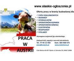 OPERATOR DŹWIGU Z DOBRYM JĘZYKIEM NIEMIECKIM- Austria